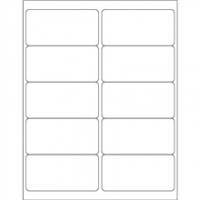 Weather-Resistant Rectangle Laser Labels - 4 x 2""