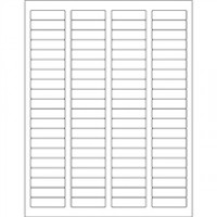 White Removable Rectangle Laser Labels - 1 3/4 x 1/2""