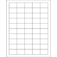 White Removable Rectangle Laser Labels - 1 1/2 x 1""