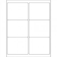 Weather-Resistant Rectangle Laser Labels - 4 x 3 1/3""