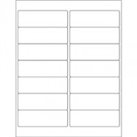 Weather-Resistant Rectangle Laser Labels - 4 x 1 1/3""
