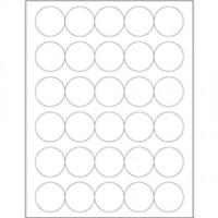 """White Circle Laser Labels, 1 1/2"""""""