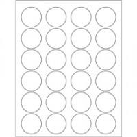 """White Circle Laser Labels, 1 5/8"""""""