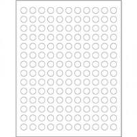 """White Circle Laser Labels, 1/2"""""""