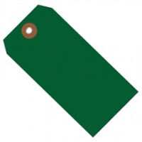 """Green Plastic Square Shipping Tags #5 - 4 3/4 x 2 3/8"""""""