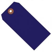 "Blue Plastic Square Shipping Tags #8 - 6 1/4 x 3 1/8"""