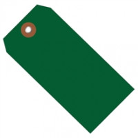 """Green Plastic Square Shipping Tags #8 - 6 1/4 x 3 1/8"""""""