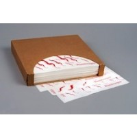Dry Waxed Food Sheets, Hamburger Wave, 12 x 12""