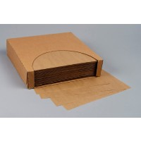 Dry Waxed Food Sheets, Natural Kraft, 15 x 15""
