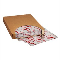 """Foil Sheets, Printed - Red Wave, 10 1/2 x 13"""""""