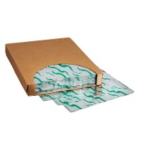 """Foil Sheets, Printed - Green Wave, 10 1/2 x 13"""""""