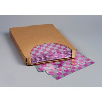 "Foil Sheets, Printed - Magenta Checkered, 10 1/2 x 13"""