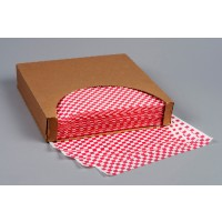 Grease Resistant Paper Sheets, Red Checkered, 12 x 12""