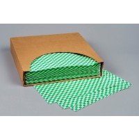 Grease Resistant Paper Sheets, Hunter Green Checkered, 12 x 12""