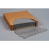 Grease Resistant Paper Sheets, Black Checkered, 12 x 12""