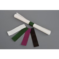 "Burgundy Paper Napkin Rings, 6 x 1 1/2"""