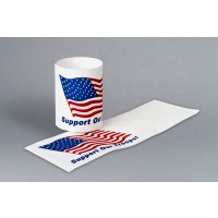 "U.S. Flag ""Support Our Troops"" Paper Napkin Rings, 1 1/2 x 4 1/4"""