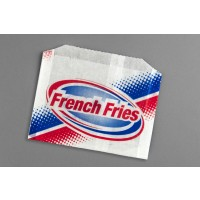 "Printed French Fry Bags, 5 1/2 x 1 x 4"" - 8 PK"