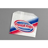 "Printed French Fry Bags, 4 1/2 x 3 1/2"" - 10 PK"