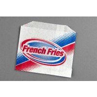"Printed French Fry Bags, 4 7/8 x 4"" - 10 PK"