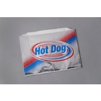 Printed Foil Hot Dog Bags, 8 1/2 x 1 7/8 x 5""
