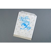 White Wedding Cake Bags, 5 3/4 x 7 1/2""