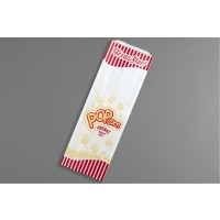 """White Texas Size Popcorn Bags, 6 x 3/4 x 18"""""""