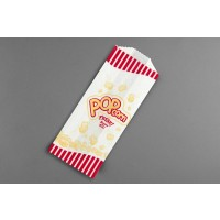 "White Printed Popcorn Bags 3/4# Size, 3 x 2 x 7"" - 5 Pack(s) of 1000"