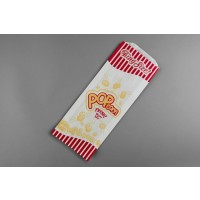 "White Printed Popcorn Bags King Size, 4 3/4 x 1 1/4 x 12"" - 1 Pack(s) of 1000"