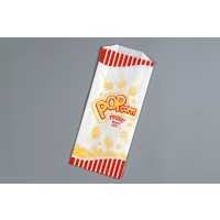 "White Printed Popcorn Bags 1# Size, 3 1/2 x 2 x 8"" - 6 Pack(s) of 1000"
