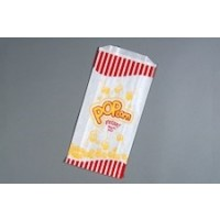 "White Printed Popcorn Bags, 3.25 x 5 x 1.25 x 10"" - 8 Pack(s) of 350"