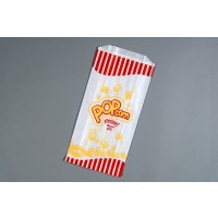"White Printed Popcorn Bags, 3.25 x 5 x 1.25 x 10"" - 1 Pack(s) of 2000"