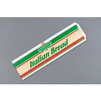 "White Italian Bread Bags, 5 1/4 x 3 1/4 x 16"""