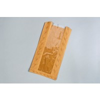 "Kraft Window Bread Bags, 8 1/2 x 4 1/2 x 14"""