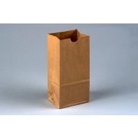 "Bakery Bags, Kraft, Plain Front, 3 3/8 x 2 1/2 x 7 3/4"""