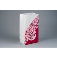 """Bakery Bags, Printed - Color Coded - Burgundy, Waxed, 7 1/8 x 4 3/8 x 13 15/16"""""""