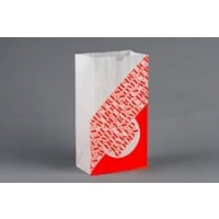 """Bakery Bags, Printed - Color Coded - Orange, Waxed, 6 5/8 x 3 7/8 x 13 1/8"""""""
