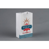 """Bakery Bags, Printed - Bakery Fresh - Teal, Brown, Red, Waxed, 6 1/8 x 3 7/8 x 12 5/8"""""""