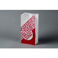 """Bakery Bags, Printed - Color Coded - Red, Waxed, 6 1/8 x 3 7/8 x 12 5/8"""""""