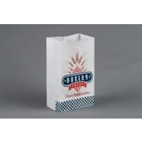 """Bakery Bags, Printed - Bakery Fresh - Teal, Brown, Red, Waxed, 5 x 3 1/8 x 9 3/4"""""""