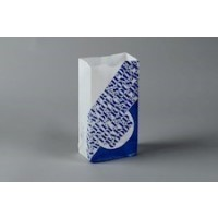 """Bakery Bags, Printed - Color Coded - Blue, Waxed, 5 x 3 1/8 x 9 3/4"""""""