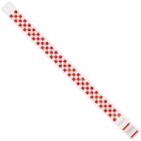 Red Checkerboard Tyvek® Wristbands, 3/4 x 10""