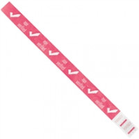 "Pink ""Age Verified"" Tyvek® Wristbands, 3/4 x 10"""