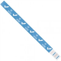 "Blue ""Age Verified"" Tyvek® Wristbands, 3/4 x 10"""