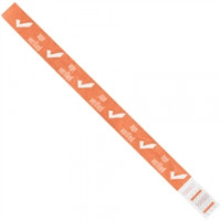 "Orange ""Age Verified"" Tyvek® Wristbands, 3/4 x 10"""