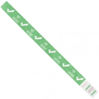 "Green ""Age Verified"" Tyvek® Wristbands, 3/4 x 10"""