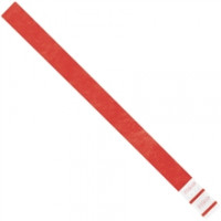 Red Tyvek® Wristbands, 3/4 x 10""