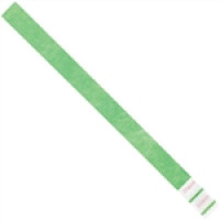 Green Tyvek® Wristbands, 3/4 x 10""