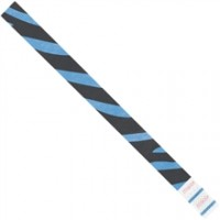 Blue Zebra Stripe Tyvek® Wristbands, 3/4 x 10""