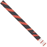 Red Zebra Stripe Tyvek® Wristbands, 3/4 x 10""